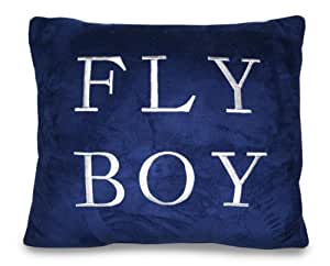 Thro Ltd. Fly Boy Embroidered Pillow, Navy