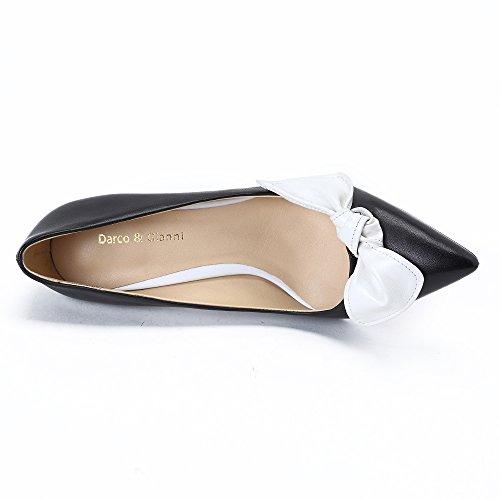Aiguille Cravate Talon Gianni Haut Élégant Fête Travail De Femme Darco Avec Pointu Cuir Chaussures Blanc Soir Escarpins t16da