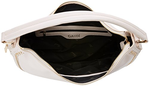 Gaudì Betzi, Borsa a Spalla Donna, 12x33x40 cm Bianco (Pearl White)