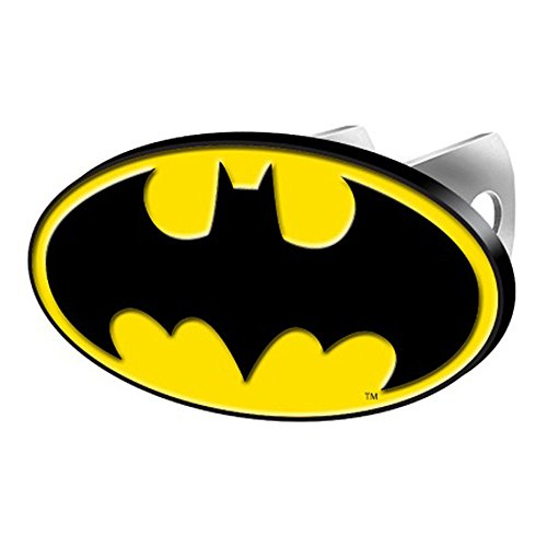 DC+Comics Products : Batman Colored Bat Logo DC Comics Cartoon Movie Character Superhero Solid Metal Hitch Plug Receiver Cover