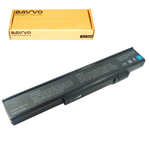 Bavvo 6-cell Laptop Battery for Gateway squ-414 squ-516 w...