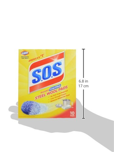 S.O.S Steel Wool Pads - package size