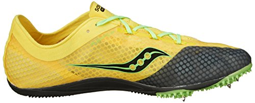 Saucony Mens Endorphin Track Spike Racing Shoe Yellow/Black/Slime YbUdm5nCq
