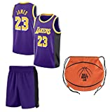 Fan Kitbag James Jersey Kids Lebron Basketball James Jersey & Shorts Youth Gift Set Home/Away Premium Quality Gift Set