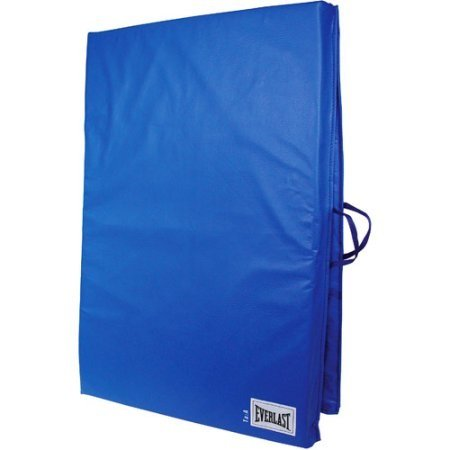 2' x 6' Folding Non-Absorbent Shell Exercise Mat with Sewn Handle , Blue