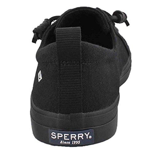 Sperry Top-sider Våbenskjold Vibe Oversvømmet Sneaker Sort FLSXJAM