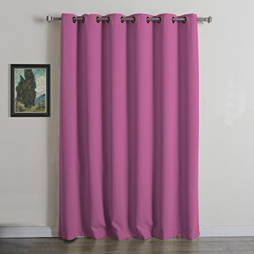 Curtains Ideas curtains double width : Double Wide Grommet Curtains: Amazon.com