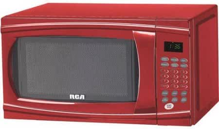 RCA RMW1112WH 1.1-Cu-Ft 1000-Watt Microwave, Red