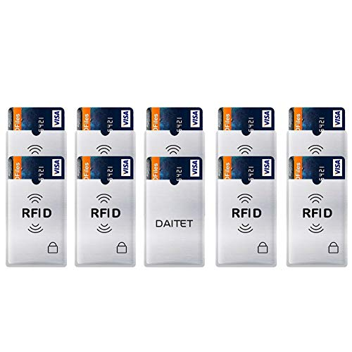 Tri Fold Belt - DAITET Security Card Shield -10 Credit Card RFID Protection, Anti-Theft & Security Sleeves