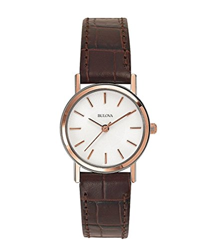 Bulova Women's 98V31 Stainless Steel Watch With Brown Leather (Bulova Watch Leather Band)
