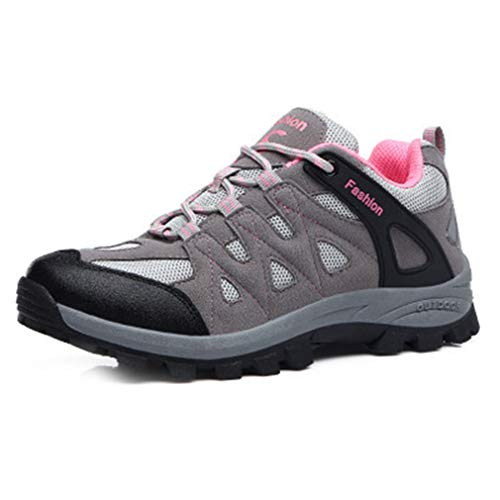 Waterproof pink Climbing Women's Hiking Anti Slip Hiker Shoes Backpacking Running Trail Gray Outdoor Casual Shoe Zq6Bpwdq