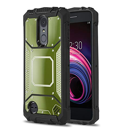 Cover Plate Metro - Phone Case for [LG Aristo 3 (Metro, T-Mobile)], [Alloy Series][Army Green] Aluminium [Metal Plate][Military Grade] Shockproof [Impact Resistant] Cover for LG Aristo 3 (LMX220MA) Metro, T-Mobile
