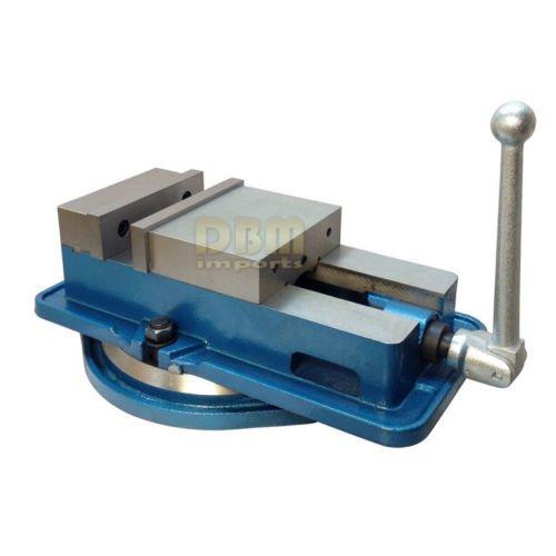 6'' Milling Machine Lockdown Vise -Swiveling Base - Hardened Metal - CNC Vise