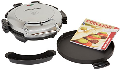 George Foreman GRP0720PQ 360 Grill with 2-Removable Grill Plates, Bake Pan and Cookbook, Plantium (George Foreman Baking Pan compare prices)