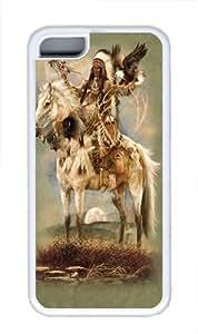 iPhone 5C Case, iPhone 5C Cases -Spirit Native American Custom TPU Soft Case Cover Protector for iPhone 5C White