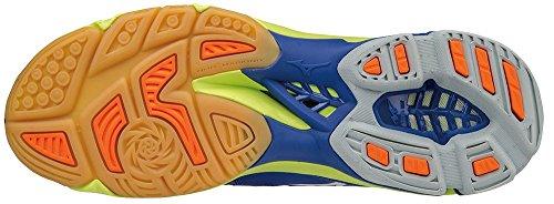 Mizuno Wave Lightning Z3, Zapatos de Voleibol para Hombre Multicolor (Surftheweb/white/orangeclownfish)
