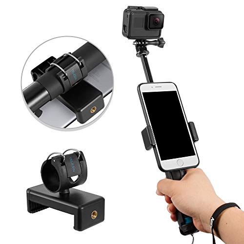 """TELESIN 35.5"""" Selfie Stick Monopod for GoPro, Selfie Pole with Strong Tripod Mount Adapter, Cellphone and Digital Compacts for Hero 7 6 5 4 3, AKASO, Campark, APEMAN, DJI OSMO Action Cameras"""