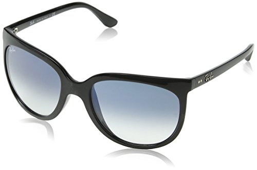 - Ray-Ban RB4126 Cats 1000 Cat Eye Sunglasses, Black/Blue Gradient, 57 mm
