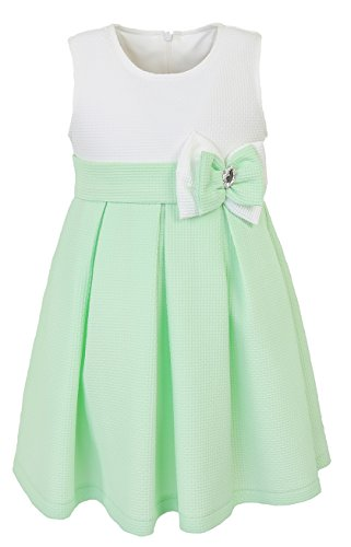 Lilax Little Girls' Solid Swing A-Line Sleeveless Summer Toddler Occasion Dress 3T Green (School Girl Fancy Dress Ideas)