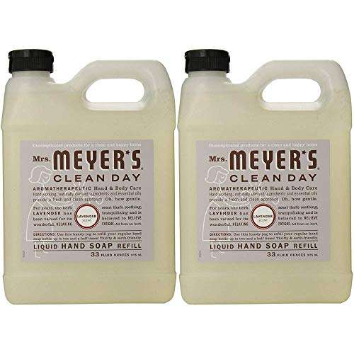 Mrs. Meyers Clean Day Hand Soap Refill, Lavender 33 oz (Pack Of 2)