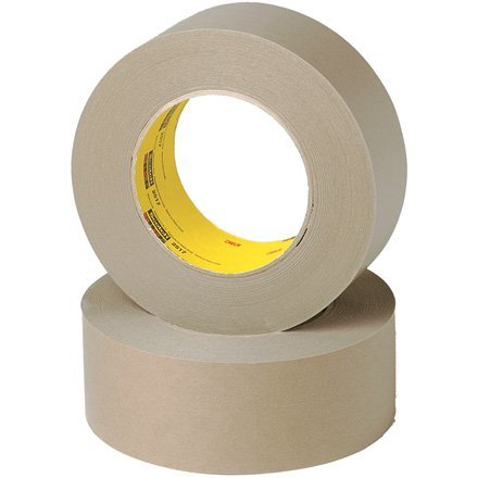 (3M Tartan 2515 Kraft Paper Flat Back Masking Tape, 200 Degree F Performance Temperature, 36 lbs/in Tensile Strength, 60 yds Length x 1