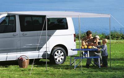 Berger Sonnenvordach Bus & Wohnwagen, grau, L 240 x B 300 cm, Vordach Sonnenschutz