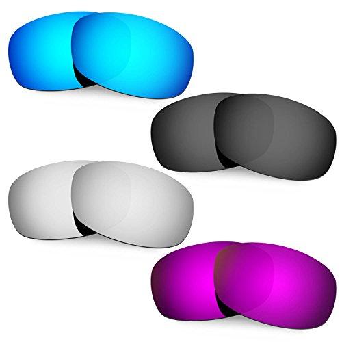 Hkuco Mens Replacement Lenses For Costa Brine Sunglasses Blue/Black/Titanium/Purple