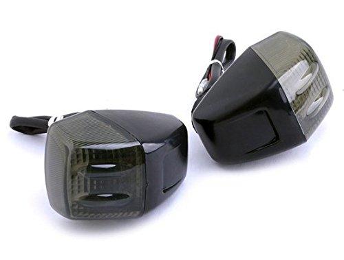 Motorcycle Accessories Black Racing 12 LED Turn Signal LED Light Indicator Lens Blinker Fit For Honda RVF400 NC35 1994-1998