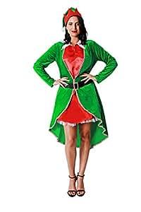 Costumizate! Disfraz de Elfa para Mujer Adulta Talla Unica Especial de Navidad