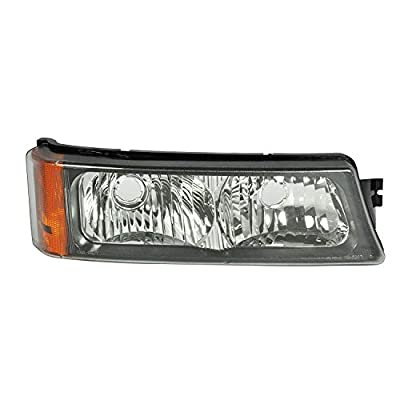 Right Passenger Side Parking and Turn Signal Light Assembly for 2002-2006 Chevy Avalanche 1500 and 2003-2006 Chevy Silverado 1500 - GM2521185: Automotive