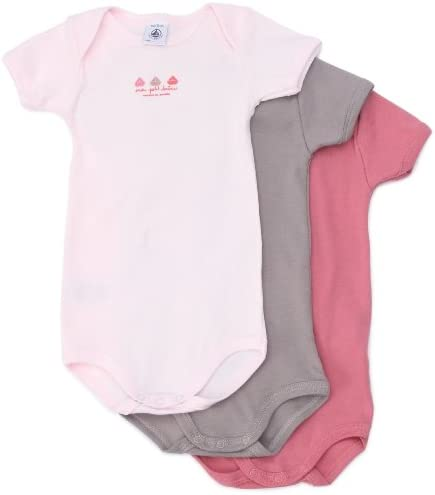VanessasShop Lot de 1 ou 2 bodies pour b/éb/é I Mama /& I Papa//blanc//rose//bleu Taille 0-9 mois