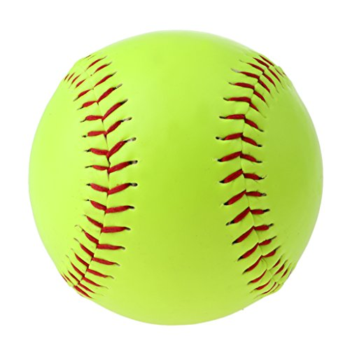 s - Fast Pitch Softballs, Leather Cover, Cork Core (Yellow) (Cork Core Leather Fastpitch Softball)