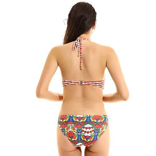 Taille fashion Woman Bikini Large Suit coloré Bain Maillot Bleu De Bikini Zhrui Gules v1xqwAS5