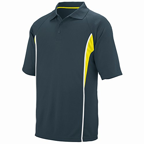 Augusta Sportswear Men's Rival Sport Shirt M Slate/Power Yellow/White