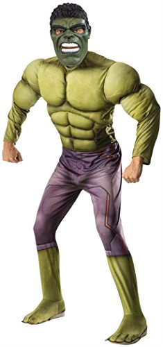 Rubie's Men's Avengers 2 Age Of Ultron Adult Deluxe Hulk Costume, Green, X-Large