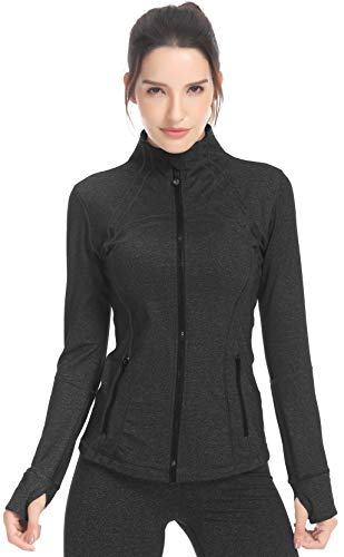 QUEENIEKE Women's Sports Define Jacket Slim Fit and Cottony-Soft Handfeel Size XL Color Dark Charcoal