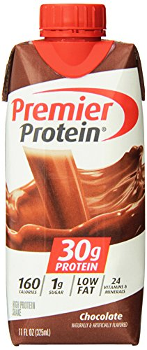 Premier Protein High Protein Shake, Chocolate (11 fl. oz, 12 Pack), 132 fl. oz. (Banana Milkshake Calories)