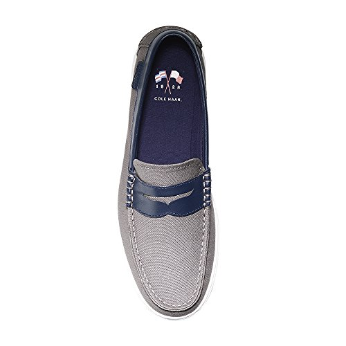 Cole Haan Mens Nantucket Loafer Grijs Canvas-blauw Leer
