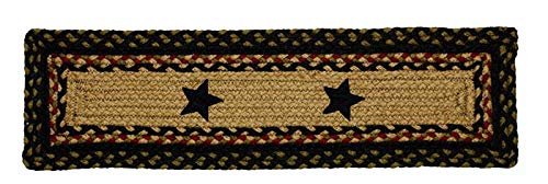- IHF Home Decor Tartan Star | Stair Treads Braided Area Rectangle Rugs for Outdoor, Indoor, Porch, Farmhouse | 100% Natural Jute Fabric Material Carpet Pads | Modern Contemporary Washable - 8