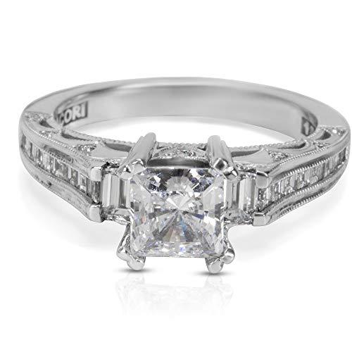 BRAND NEW Tacori Engagement Ring Setting in 18K White Gold HT 2509 PR SM 1/2 W ()