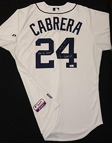 Detroit Tigers Authentic Home Jersey (Miguel Cabrera Autographed Detroit Tigers Home Authentic Cool Base Jersey -