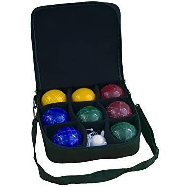 Park & Sun 109mm Bocce Ball Pro Set with Attaché Carry Bag