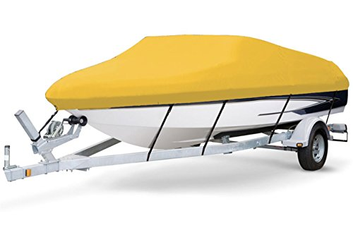7oz Solution Dyed Polyester Yellow, Styled to FIT Boat Cover for BAYLINER 197 Deck Boat W/EXTD SWPF 2006-2013