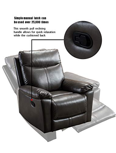 Anj Leather Recliner Chair Padded Durable Recliner Chair