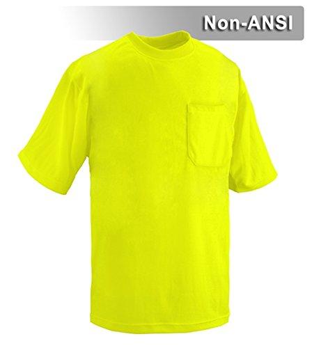 Brite Safety Style 203 Hi Vis Shirt | Short-Sleeve Safety Shirt with Pocket | Non-ANSI | Lightweight Birdseye Moisture Wicking Shirt for Men & Women (4X-Large, Hi Vis Yellow) by Brite Safety (Image #2)