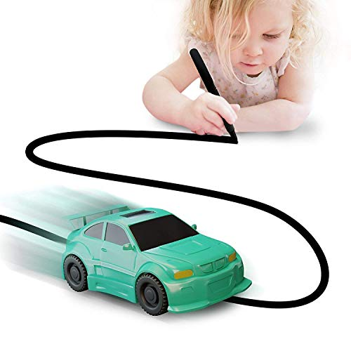 Nylea Magic Vehicles Inductive Truck [Follows Black Line] Magic Toy Car for Kids & Children - Best Toddler Toys Mini Magic Pen Inductive Fangle Kids (Green Car) (Radio Control Truck Pulling)