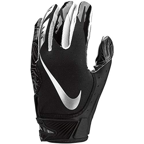 Men's Nike Vapor Jet 5.0 Football Gloves Black/Chrome Size Medium