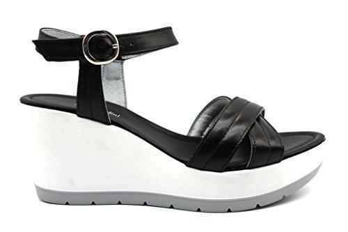 schwarzGiardin P805711D Schwarz Schuhe Sandalen Wedges Wedges Wedges Frau ce516f