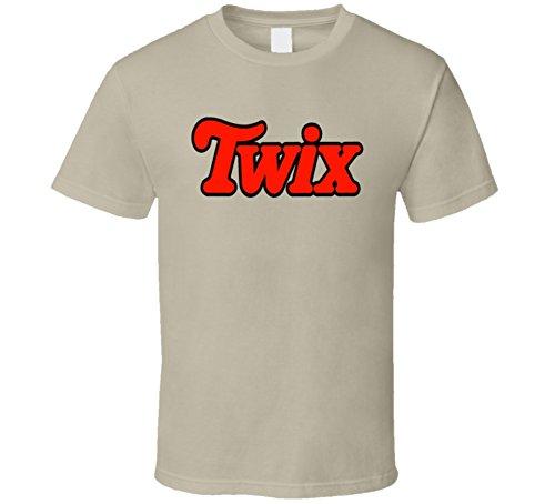 Twix Chocolate Twin Bar Logo T Shirt L Tan -