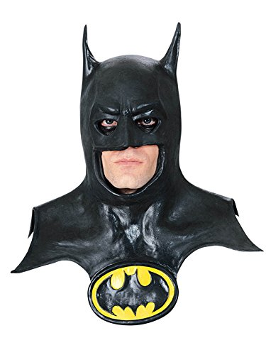 Rubie's Batman Movie Deluxe Overhead Mask with Cowl, Black, One -